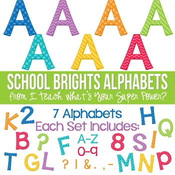 School Brights Set of 7 Alphas