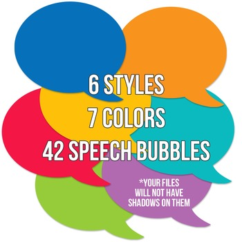 School Brights Speech Bubble Pack