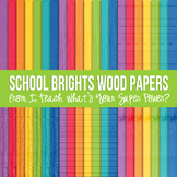 School Brights Wood Paper Pack