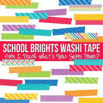 School Brights Washi Tape Pack