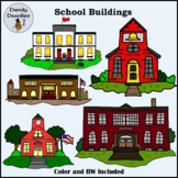 School Buildings Clip Art by Dandy Doodles