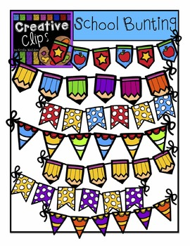 School Bunting {Creative Clips Digital Clipart}
