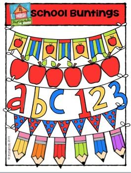 School Buntings {P4 Clips Trioriginals Digital Clip Art}