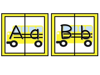 School Bus Alphabet Puzzles