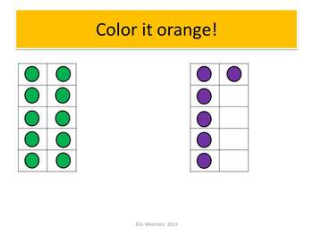 School Bus Beginning Ten Frames - Watch, Think, Color! CCSS.K.NBT.A.1
