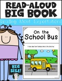 School Bus Behavior Setting Expectations Read Aloud Big Book for Kindergarten