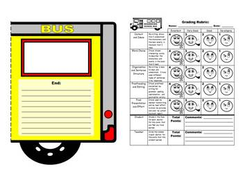 School Bus Book Report Project Templates (Sequencing Skills)