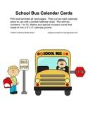 School Bus Calendar Cards