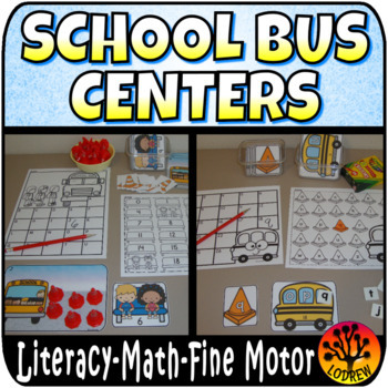 School Bus Centers Activities Literacy Math Back To School Tubs Fine Motor