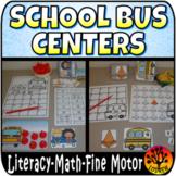 School Bus Centers Activities Literacy Math Back To School