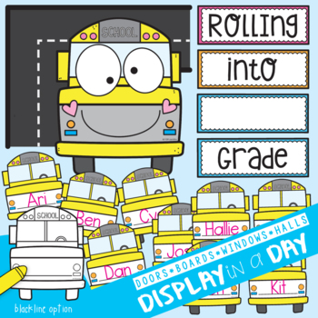 School Bus Bulletin Board / Display Set