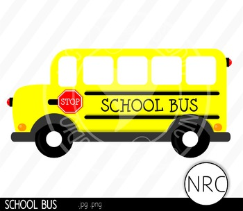 School Bus Clip Art- Commercial Use Clipart
