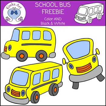 School Bus Clip Art FREEBIE