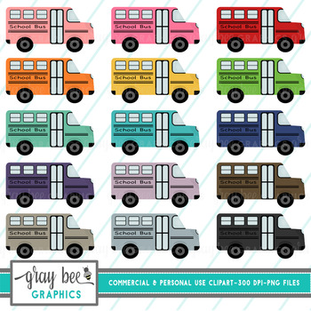 School Bus Clip Art Pack