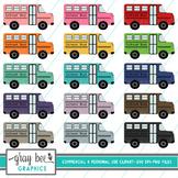 School Bus Clip Art Pack