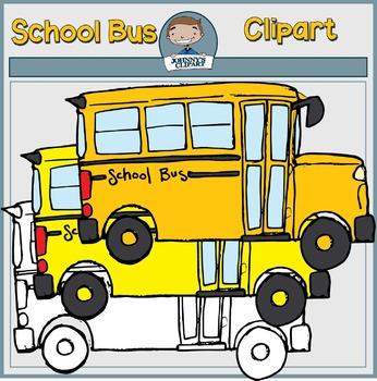 {Freebie} School Bus Clipart