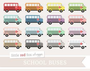 School Bus Clipart; Transportation