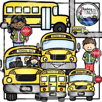 School Bus Clipart Bundle