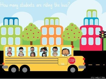 School Bus Counting Practice 0-20 (Great for Google Classroom!)