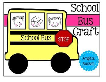 Back To School Activity - School Bus Craft