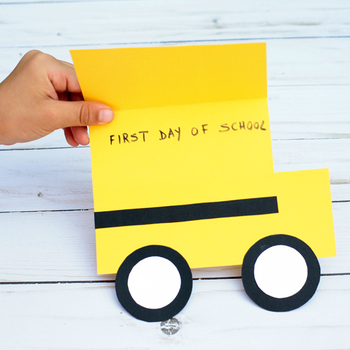 School Bus Craft | Shape Craft