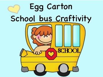School Bus Craft:  Transportation,  Recycling, Beginning o