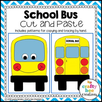 School Bus Cut and Paste