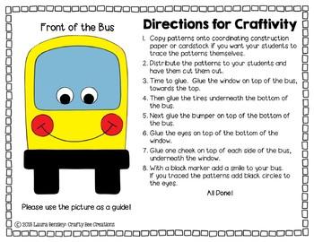 School Bus Cut and Paste