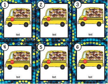 School Bus~ Editable Write the Room