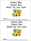 School Bus Emergent Reader for Preschool Kindergarten
