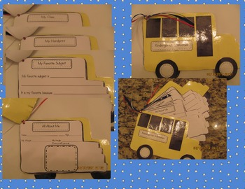 School Bus End of Year Craft Memory Book