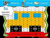School Bus Expanded Notation - Watch, Think, Color! CCSS.2