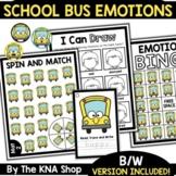 School Bus Feelings and Emotions Activities Back to School