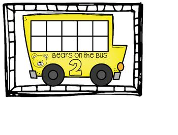 School Bus Math Frame- Bears on the Bus