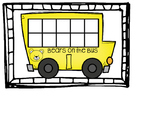 School Bus Math Frame- Bears on the Bus