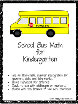 School Bus Math for Kindergarten
