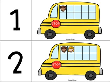 School Bus Number Matching 1-10