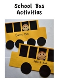 School Bus Patterns and Activities
