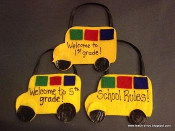 School Bus Pocket Craft Freebie by Teach-A-Roo