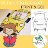 School Bus Printable Craft {Back to School Craft} Printable Craftivity