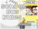 School Bus Rules Posters