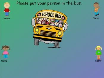 School Bus SMART Board Attendance