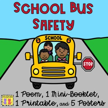 School Bus Safety Rhyme + Mini-Booklet: Back To School