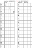 School Bus - Seating Chart Template
