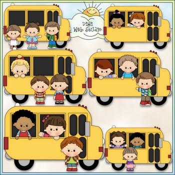 School Bus Stop Clip Art - Back To School Clip Art - CU Clip Art & B&W