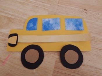 School Bus Template Craft
