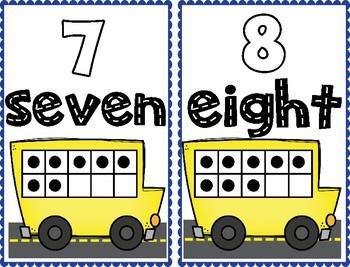 School Bus Ten Frame