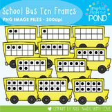School Bus Ten Frames Clipart
