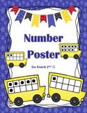 School Bus Ten Frames Number Posters 0-20