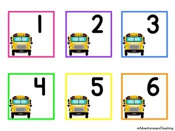 School Bus Themed Calendar Numbers {Back to School}